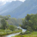 Dave Santillanes, The Florida River Valley, oil, 10 x 8.