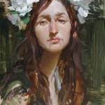Josh Clare, Flowers, oil, 12 x 16.