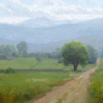 Dave Santillanes, Front Range Afternoon, oil, 9 x 12.