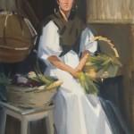 Robert Lemler   Girl With Onions, oil, 24 x 18.