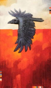 Huginn, oil, 24 x 14.