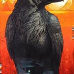 The Raven of Jackson Lake, oil, 48 x 32.