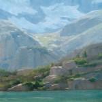 Dave Santillanes, Lake of Glass, oil, 12 x 9.