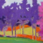 Marshall Noice, Lilacs, Fairway, oil, 18 x 27.