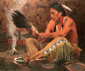 David Mann, Incense Fan, oil, 20 x 24.
