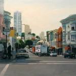 James Randle, North Beach, oil, 20 x 24.