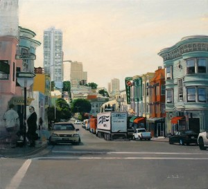 James Randle, North Beach, oil, 20 x 24.