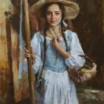 Brittany Weistling, Nicolette, oil, 24 x 18.