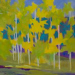Marshall Noice, Nine Aspens, Martin City, oil, 30 x 30.
