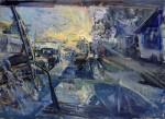 Mikael Olson, Windshield, oil, 30 x 40.