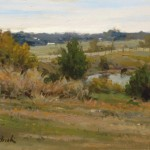 John Pototschnik, North of Farmersville, oil, 8 x 11.