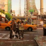 James Randle, Queens Cab, oil, 15 x 17.