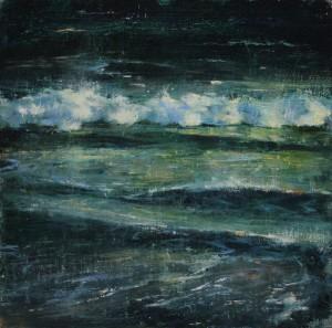Elizabeth Pollie, Rattle and Hum, oil, 10 x 10.