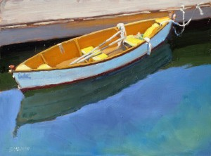 Ready To Row, oil, 9 x 12.