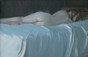 Robert Lemler | Reclining Figure, oil, 18 x 24.