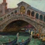 Curt Walters, Rialto Bridge, oil, 11 x 14.