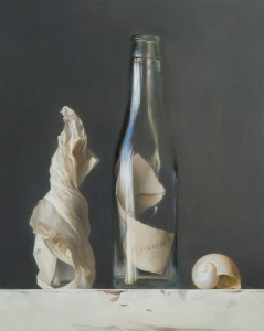 Message in a Bottle, oil, 10 x 8.