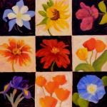 Jean Shom, Bouquet, oil, 24 x 24.