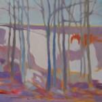 Marshall Noice, Snow Along the Sheyenne, oil, 30 x 30.