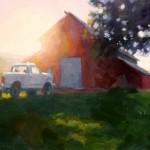 Timothy Horn, Solar Spring, oil, 12 x 24.