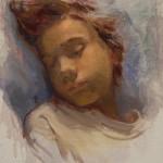 Lynn Sanguedolce, Sophie Sleeping, oil figure painting
