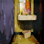 Robert Spooner, Sink and Green Soap, oil, 30 x 30.