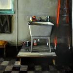 Robert Spooner, Utility Sink, oil, 30 x 28.