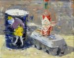 Clyde Steadman, Hearty Breakfast, oil, 16 x 20.