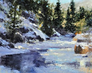 Along the Creek by Cheryl St. John at the OPA show.