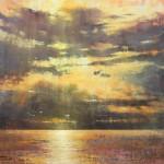 Elizabeth Pollie, The Long Goodbye, oil, 12 x 12.