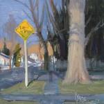 Josh Clare, The Sign, oil, 6 x 6.