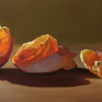 Scott Kiche, Three Stages of My Orange, oil, 24 x 48.