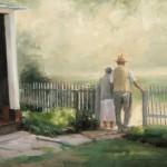 Dave Santillanes, Through the Gate, oil, 16 x 20.