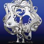 Roger Hubbard, Undulations III, stainless steel, 22 x 22 x 9.