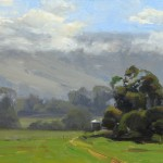David Santillanes, Upcountry, oil, 9 x 12.