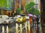 Ken Valastro, Red Coat, oil, 30 x 40.