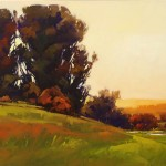 Gregory Stocks | Warm Fade, oil, 24 x 48.