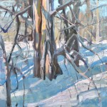 Winter Trees, oil, 36 x 36.