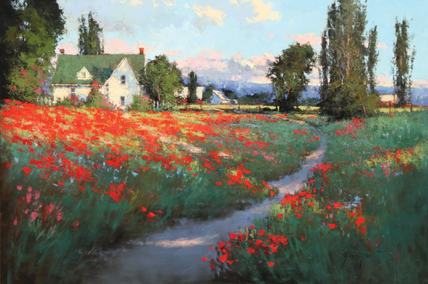 artistsnetwork com summer sweepstakes romona youngquist remains of summer s past oil 58 x 55 6811